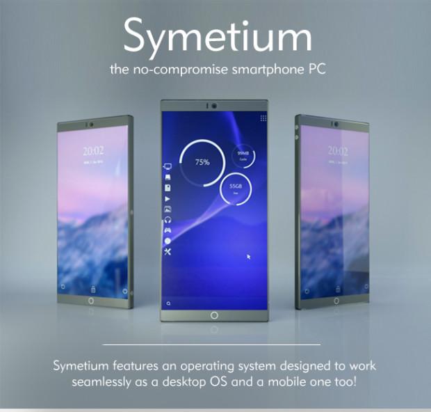 """【Indiegogo】Android 6.0搭載、RAM容量6GBで""""デスクトップPC""""にもなるモンスタースマホ「Symetium」"""