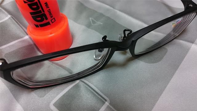 「iガラコ」を眼鏡に塗ってみた