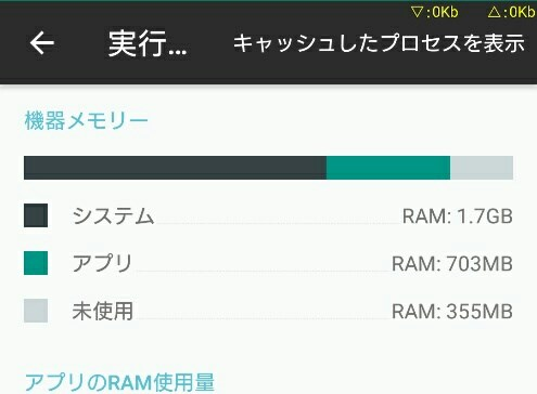 【Xperia?】Marshmallowでメモリ(RAM)使用率を調べる方法