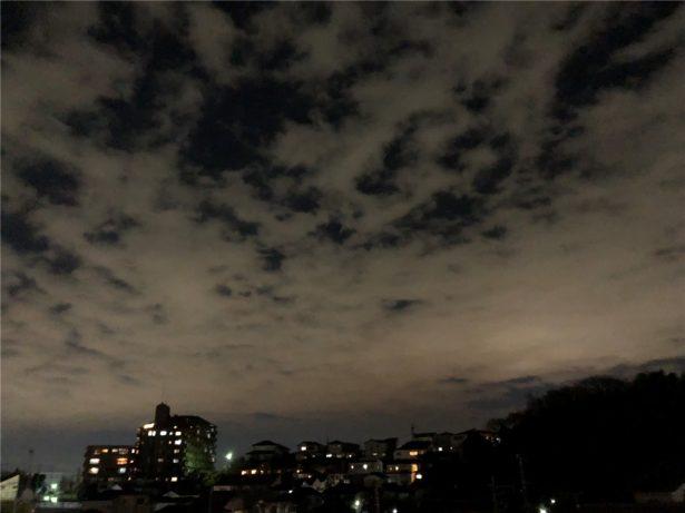 iPhoneXで夜撮