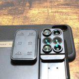 MOMAX 6in1 iPhone Xカメラレンズ付ケースの各種パーツ
