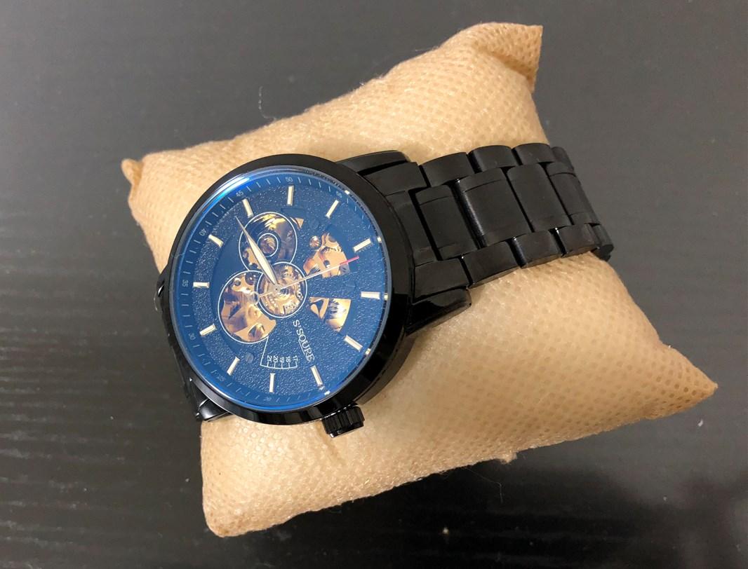 BesTn出品 機械式腕時計ブラックメタル