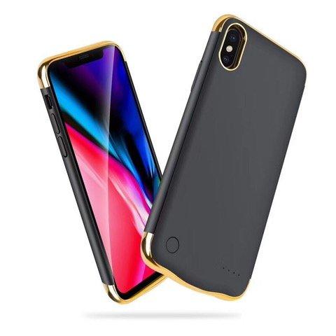 【TECHY】薄型大容量 iphoneX用 5.8in 5500mah スリムバッテリー内臓ケース パワーバンク