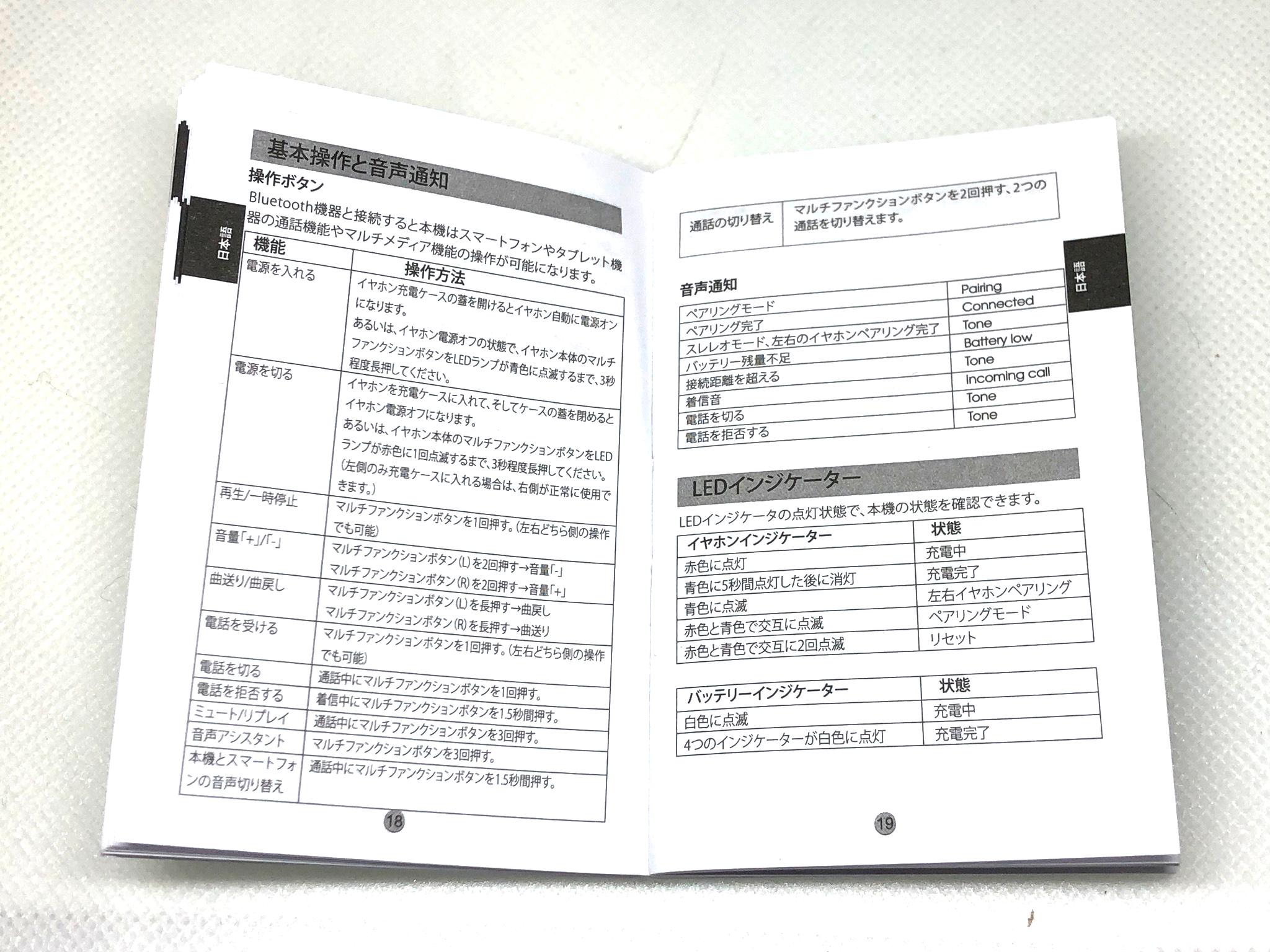 サウンドピーツQ42の取扱説明書(日本語)