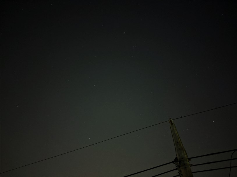 Pixel 3aで撮影した夜空をSnapseedで加工
