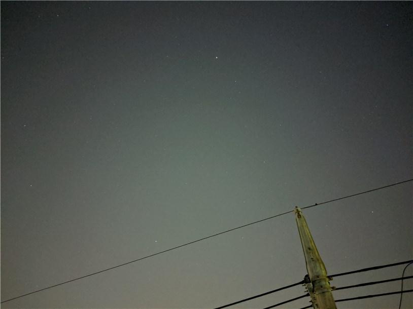 Pixel 3aの夜景モードで夜空を撮影