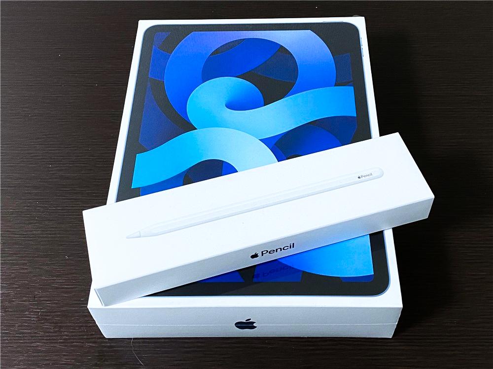 iPadAir4スカイブルーを開封