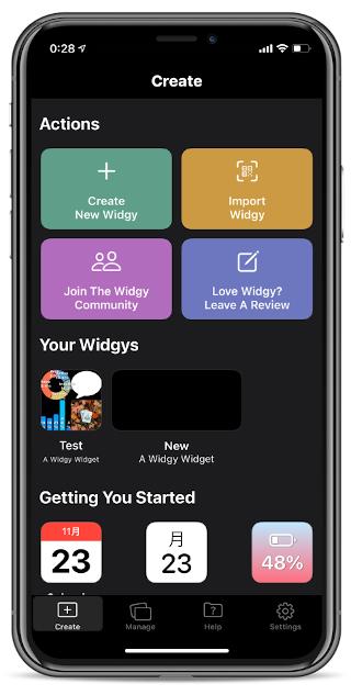 WidgyでiOSのウィジェットを作る